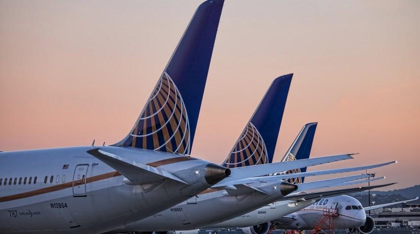 Boeing 787 Dreamliners van United