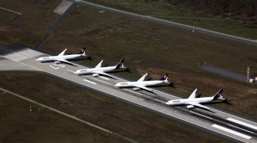 Lufthansa-vliegtuigen