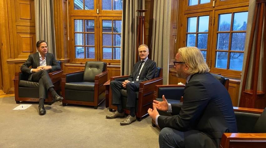 minister president mark rutte arjen kers frank oostdam torentje