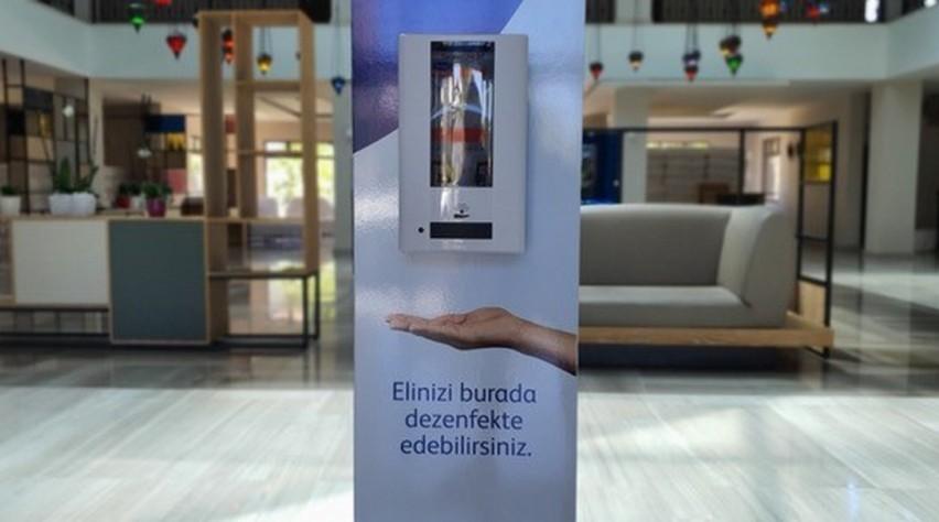 Dispenser hotel lobby