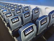 Delta A320 cabine economy