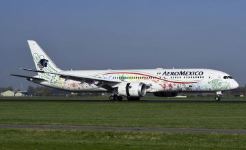Aeromexico 787-9 Schiphol
