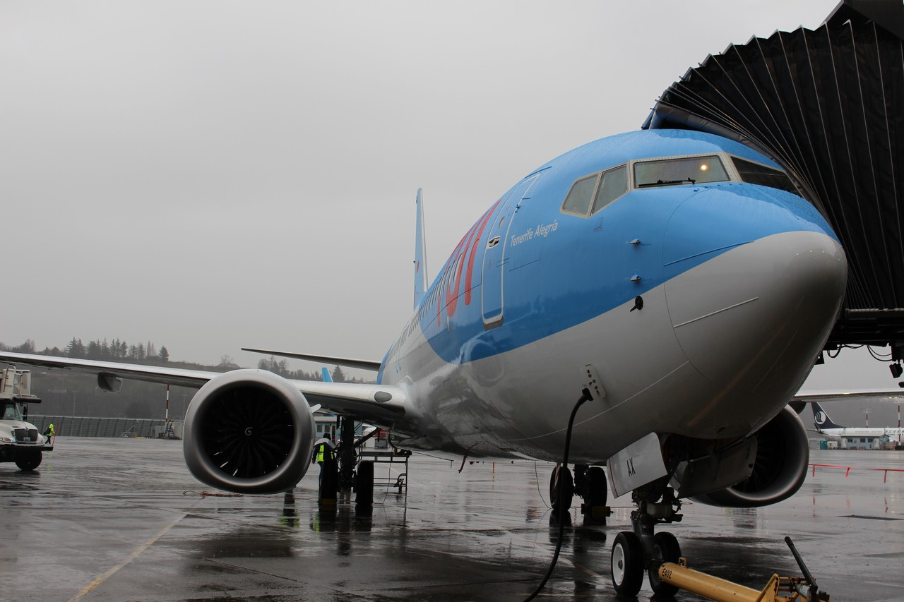 Tui fly vliegt 737 max non stop met passagiers naar for Door 00 seatac airport